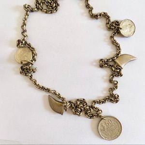 Ashley Pittman Solid Bronze Coin Necklace